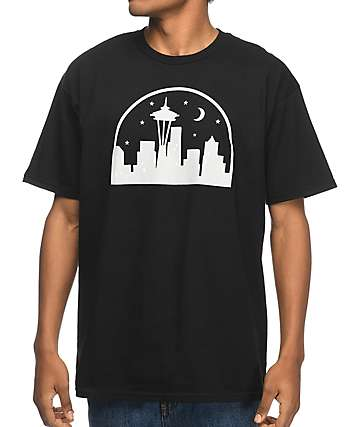 Casual Industrees Seattle Nights Black T-Shirt