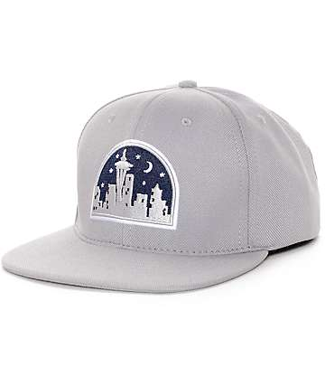 Casual Industrees Seattle Nights Grey Snapback Hat