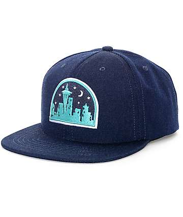 Casual Industrees Seattle Nights Navy Snapback Hat