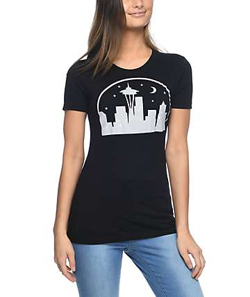 Casual Industrees Seattle Nights camiseta negra