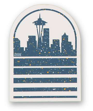 Casual Industrees Seattle Skyline Speckle Sticker