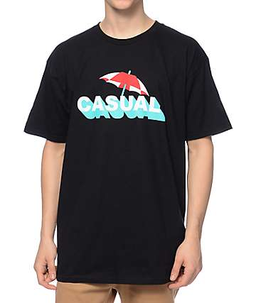Casual Industrees Shade Black T-Shirt