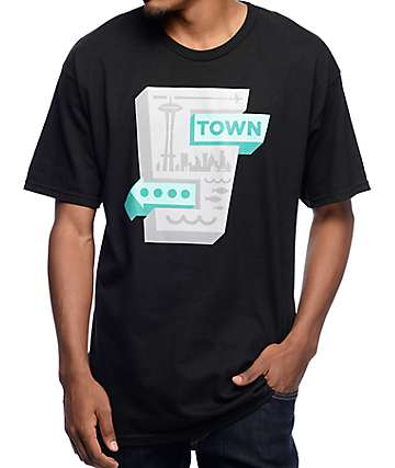 Casual Industrees Signs Black T-Shirt