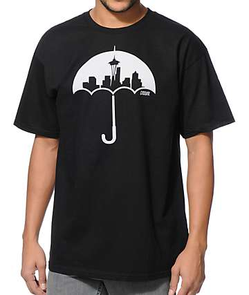 Casual Industrees Umbrella Black T-Shirt
