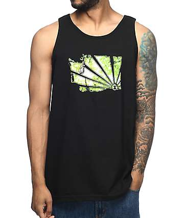 Casual Industrees WA Brah Canopy Black Tank Top