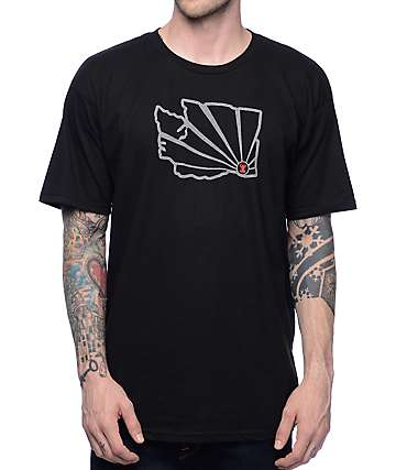 Casual Industrees WA Brah Outline 3M Black T-Shirt