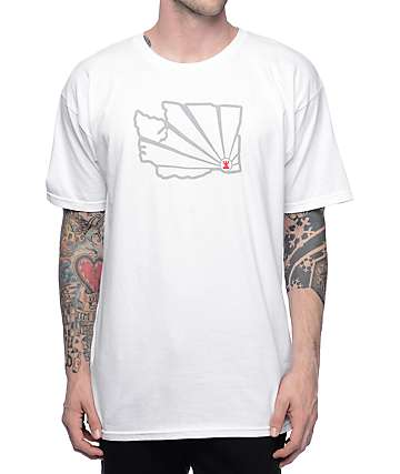 Casual Industrees WA Brah Outline 3M White T-Shirt