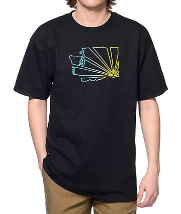 Casual Industrees WA Brah Outline Fade Black T-Shirt