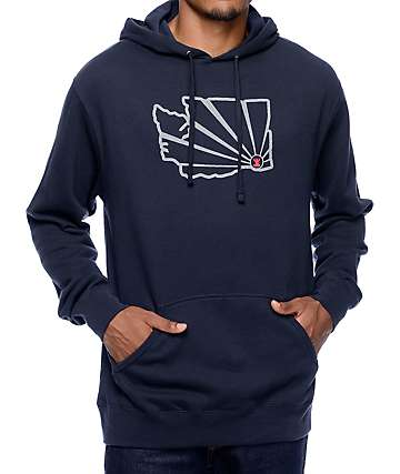 Casual Industrees WA Brah Outline Reflective Navy Hoodie