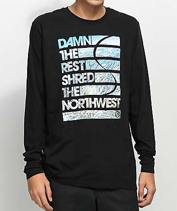 Casual Industrees WA Damn The Rest Black Long Sleeve T-Shirt