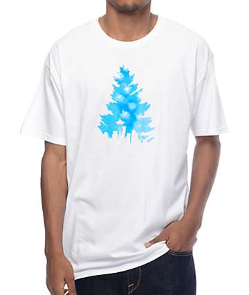 Casual Industrees WA Johnny Tree Clouds camiseta blanca