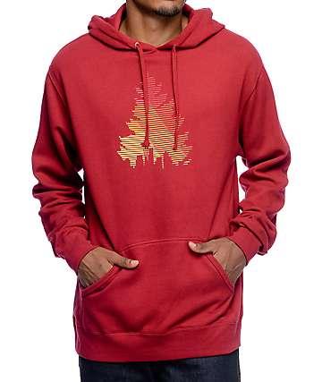 Casual Industrees WA Johnny Tree Red Hoodie