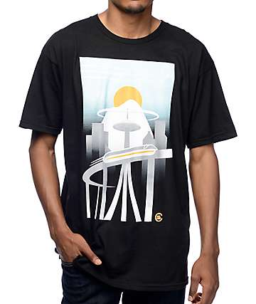 Casual Industrees WA Monorail Black T-Shirt