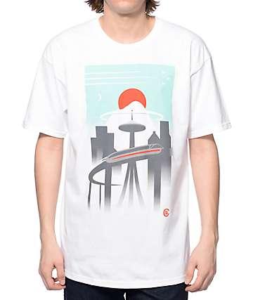 Casual Industrees WA Monorail camiseta blanca
