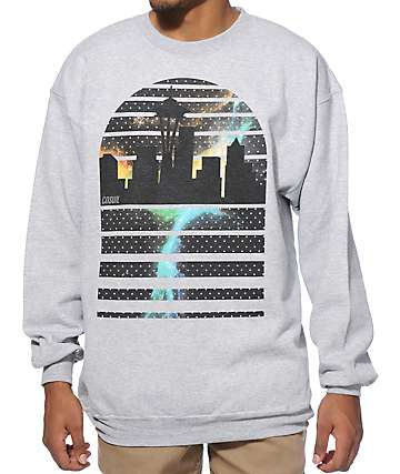Casual Industrees WA Seattle Skyline Crew Neck Sweatshirt