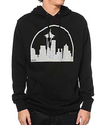 Casual Industrees WA Seattle Skyline Speckle Hoodie
