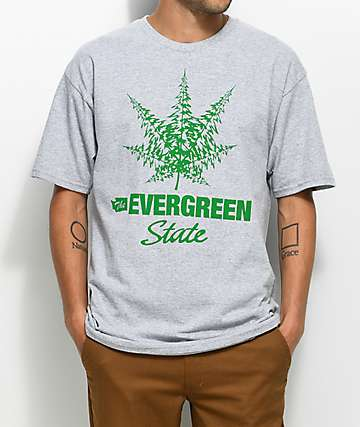 Casual Industrees WA The Evergreen State Grey T-Shirt