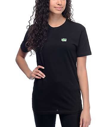 Casual Industrees Wa Brah Embroidery Black T-Shirt