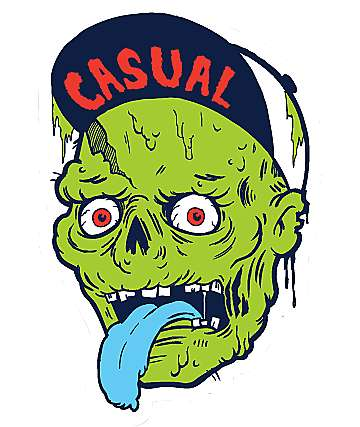 Casual Industrees Zombie Sticker