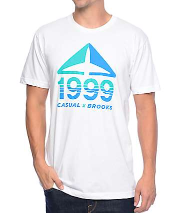 Casual Industrees x Brooks Fusion 99 White T-Shirt