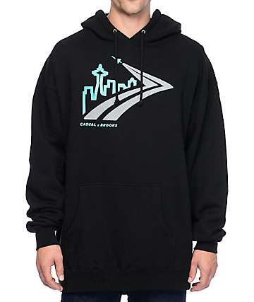 Casual Industrees x Brooks Skyline Runaway 3M Black Hoodie