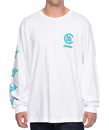 Casual Industrees x Brooks Skyline Runaway White Long Sleeve T-Shirt