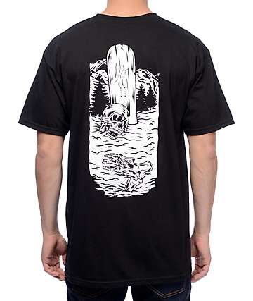 Casual Industrees x Lobster Jib Board camiseta negra