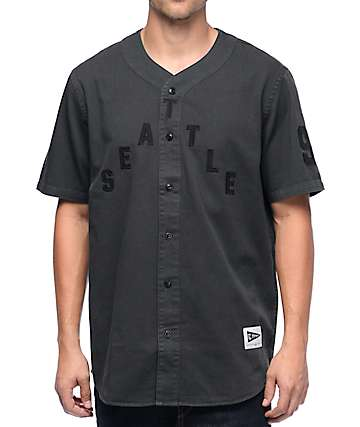 Casual Industress Hometown Black Baseball Jersey