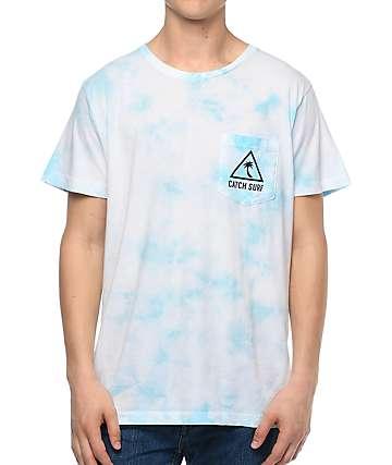 Catch Surf Island camiseta azul con bolsillo