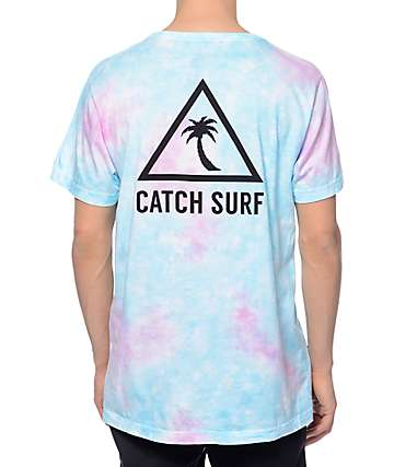 Catch Surfboard Co New School Blue Tie Dye T-Shirt