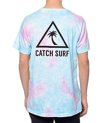 Catch Surfboard Co New School Blue Tie Dye T-Shirt