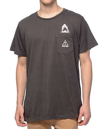Catch Surfboard Co Sketchy Black Pocket T-Shirt
