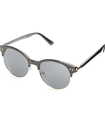 Catty Retro gafas de sol negro y oro