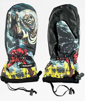 Celtek Bitten By A Mitten Iron Maiden Snowboard Mittens