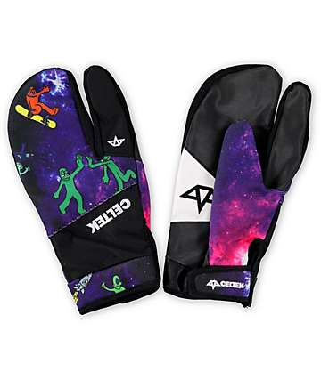 Celtek Trippin Spaced Out Pipe Snowboard Mittens