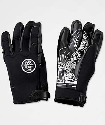 Celtek x Sketchy Tank U Tube Black Pipe Snowboard Gloves