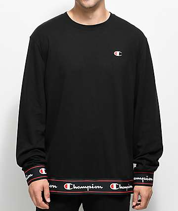 Champion Bi Ply Black Long Sleeve Shirt