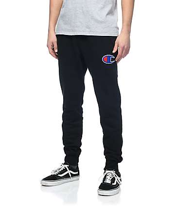 Champion Big C Black Jogger Sweatpants