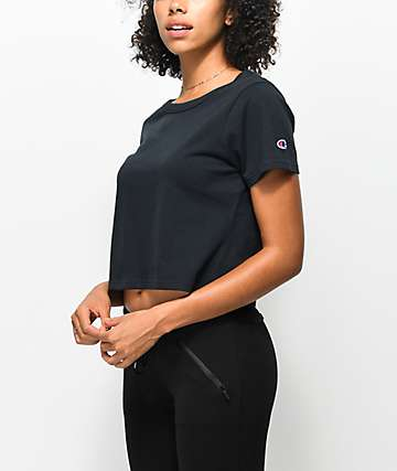 Champion Black Crop T-Shirt