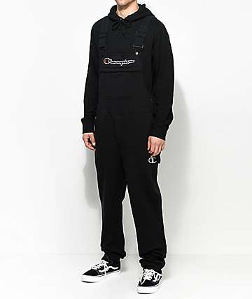 Champion Black Fleece Overalls