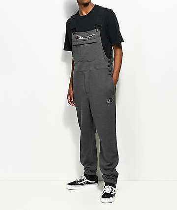 Champion Charcoal Fleece Overalls