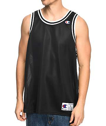 Champion City Mesh Black Jersey Tank Top