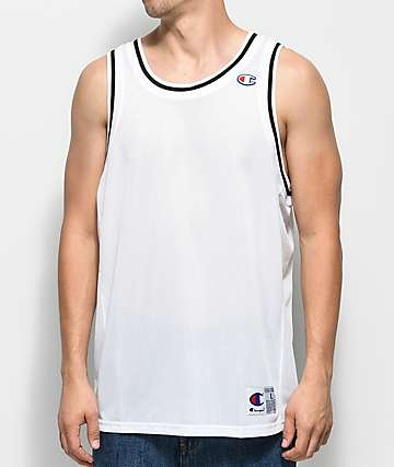 Champion City Mesh White Jersey Tank Top