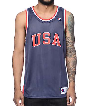 Champion City USA Navy Mesh Jersey
