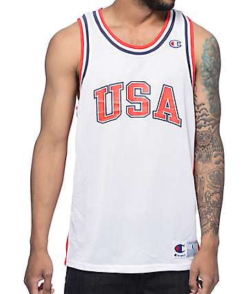 Champion City USA White Mesh Jersey