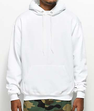 Champion Eco Fleece White Hoodie