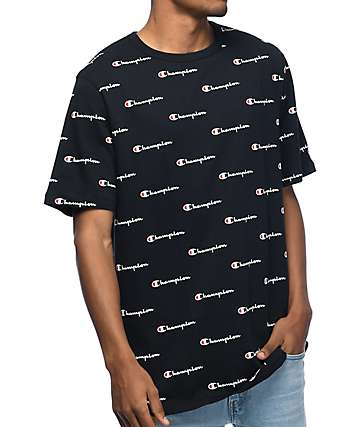 Champion Heritage All Over Black T-Shirt