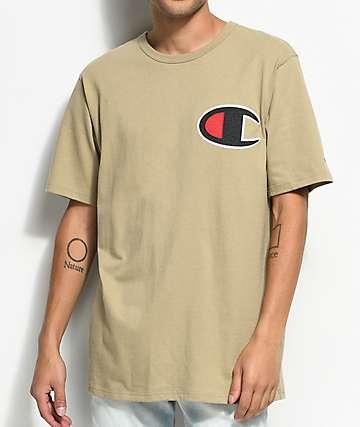 Champion Heritage Big C camiseta en color caqui