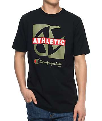 Champion Heritage Crisscross Black T-Shirt