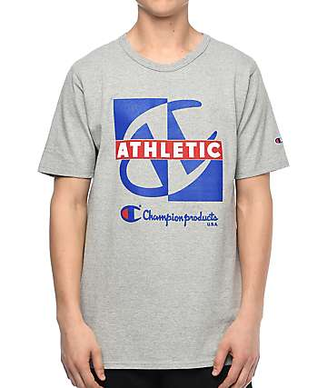 Champion Heritage Crisscross Oxford Grey T-Shirt